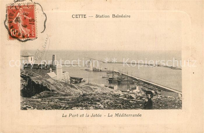Cette_Sete Station Balneaire Port et la Jetee