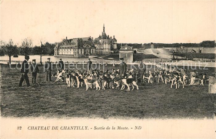 Chantilly_Oise Chateau Sortie de la Meute