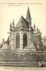 Champigny sur Veude Chevet de la Sainte Chapelle Monument Historique Champigny sur Veude
