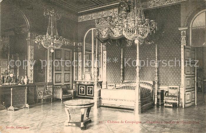 Compiegne_Oise Chateau Chambre a coucher de l Imperatrice Compiegne Oise