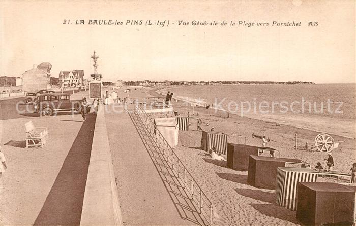 La_Baule les Pins Vue generale de la Plage vers Pornichet La_Baule les Pins