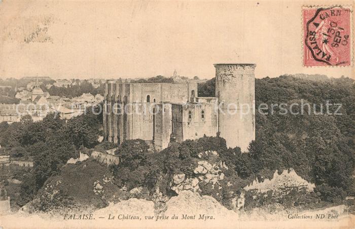 Falaise_Calvados Chateau vue prise du Mont Myra Falaise_Calvados
