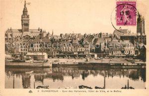Dunkerque Quai des Hollandais Hotel de Ville et le Beffroi Dunkerque