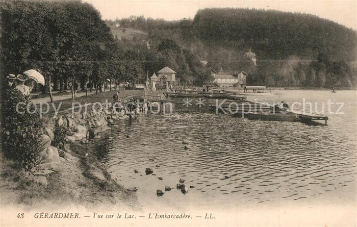 Gerardmer_Vosges Vue sur le Lac Embarcadere Gerardmer Vosges