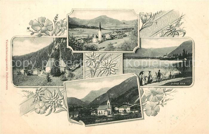 Fieberbrunn_Tirol mit St Jacob St Adolari Hochfilzen und St Ulrich Fieberbrunn Tirol