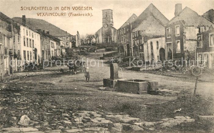 Vexaincourt Schlachtfeld in den Vogesen Zerstoertes Dorf Vexaincourt