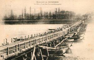 Huningue_Hueningen Le Rhin Frontiere Franco Allemande