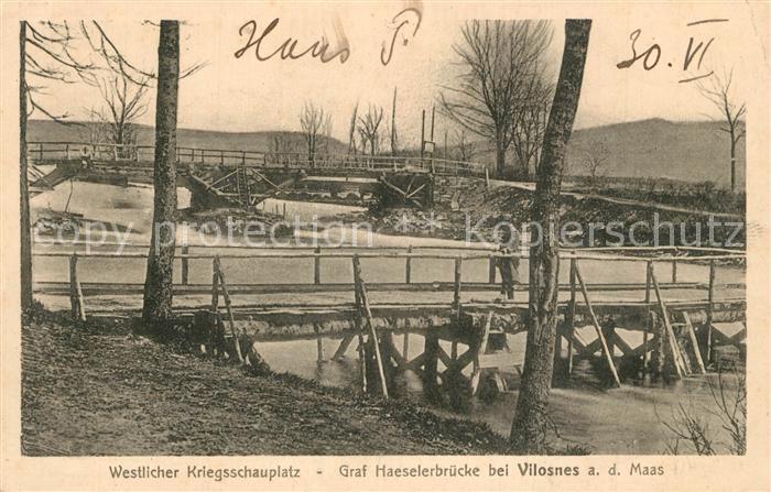 Vilosnes Haraumont Graf Haeselerbruecke an der Maas Vilosnes Haraumont