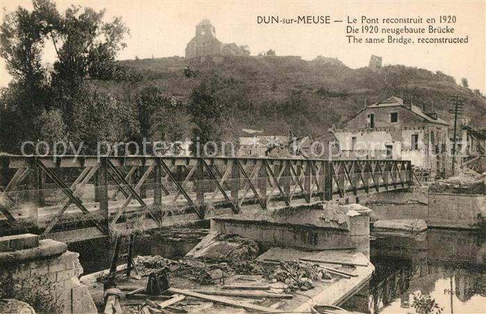 Dun sur Meuse Le Pont reconstruit en 1920 Dun sur Meuse