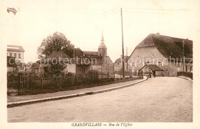 Grandvillars Rue de l Eglise Grandvillars