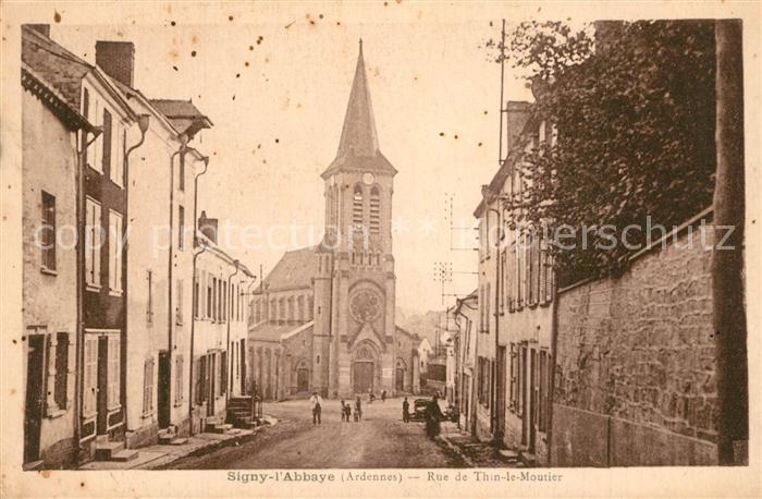 Signy l_Abbaye Rue de Thin le Moutier Signy l Abbaye