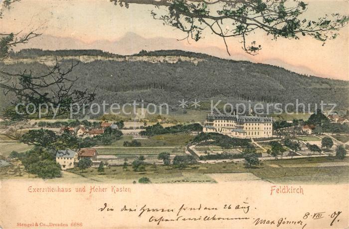 Feldkirch_Vorarlberg Exerzitienhaus und Hoher Kasten Feldkirch Vorarlberg
