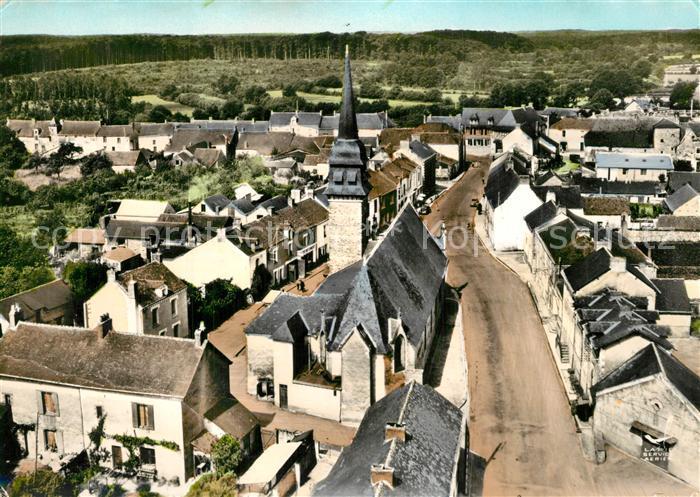 Le_Gavre Rue de l'Eglise et la Foret Vue aerienne Le_Gavre