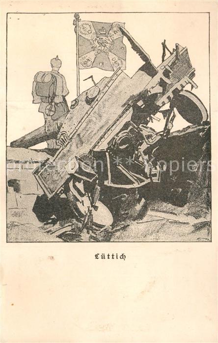 Luettich Kriegspostkarte Luettich