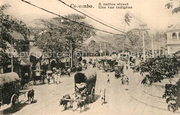 Colombo_Ceylon_Sri_Lanka Une rue indigene Colombo_Ceylon_Sri_Lanka