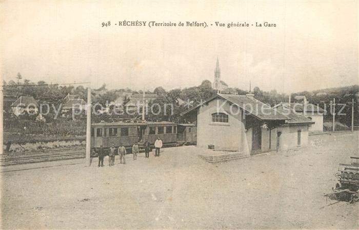 Rechesy Vue generale La Gare Rechesy