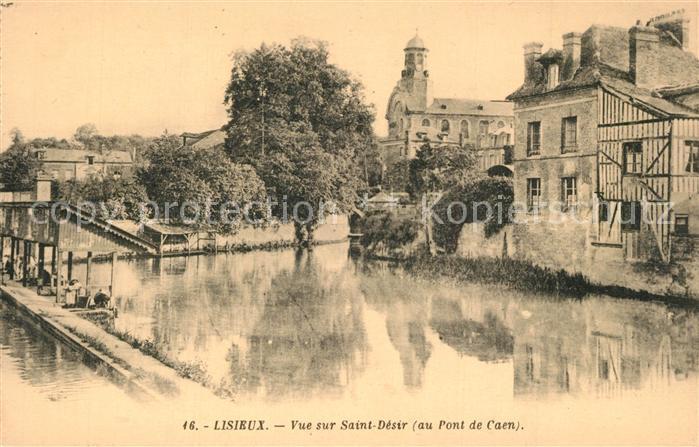 Lisieux Vue sur Saint Desir Pont de Caen Lisieux