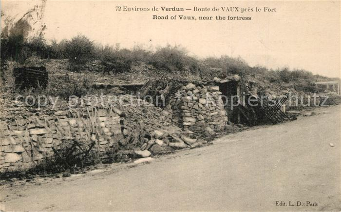 Verdun_Meuse Route de Vaux pres le Fort Verdun Meuse