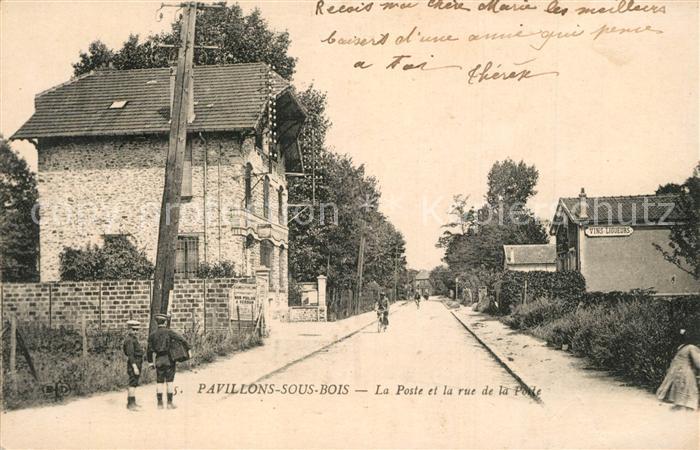 Pavillons sous Bois_Les La Poste et la rue de la Polle Pavillons sous Bois_Les