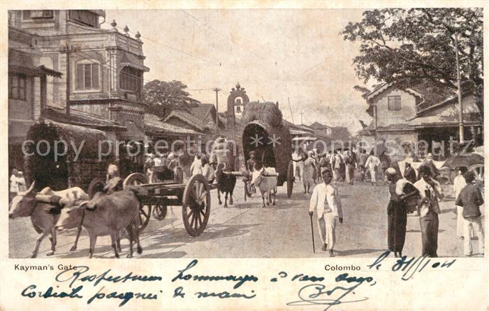 Colombo_Ceylon_Sri_Lanka Kaymans Gate Colombo_Ceylon_Sri_Lanka