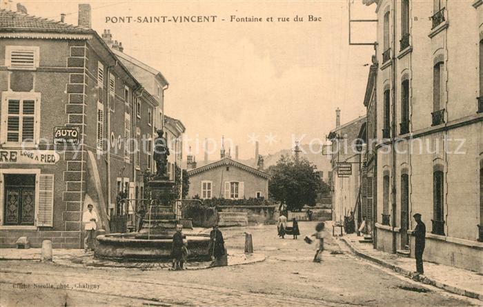 Pont Saint Vincent Fontaine et rue du Bac Pont Saint Vincent