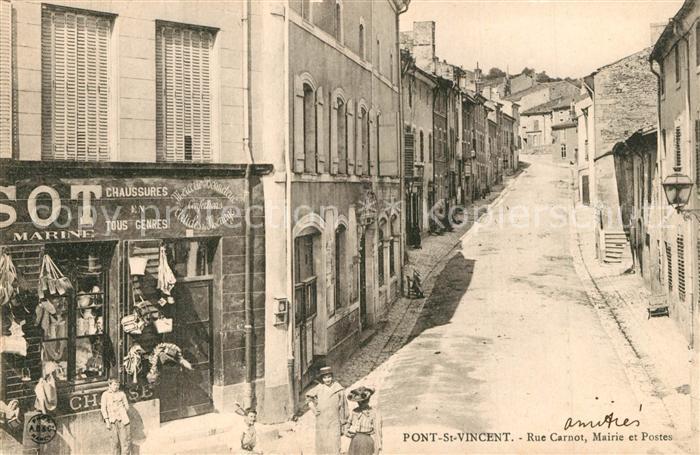 Pont Saint Vincent Rue Carnot Mairie et Postes Pont Saint Vincent