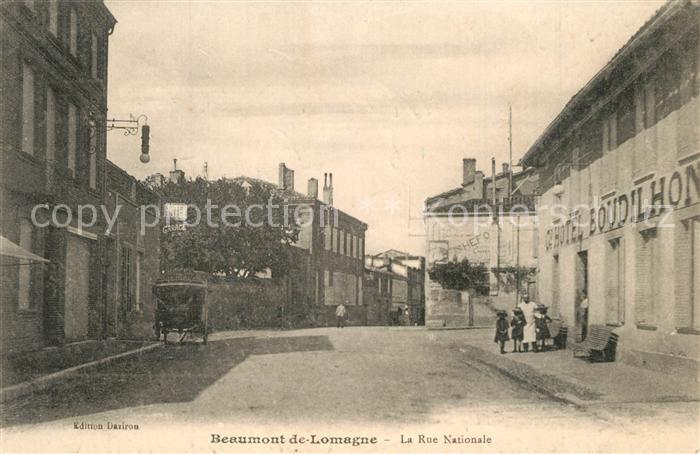 Beaumont de Lomagne La Rue Nationale Beaumont de Lomagne