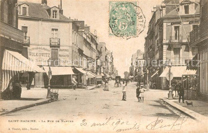 Saint Nazaire_Loire Atlantique La Rue de Nantes Saint Nazaire
