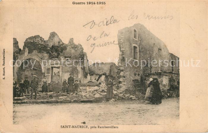 Saint Maurice sur Moselle apres le bombardement Guerre 1914 15 Saint Maurice sur Moselle