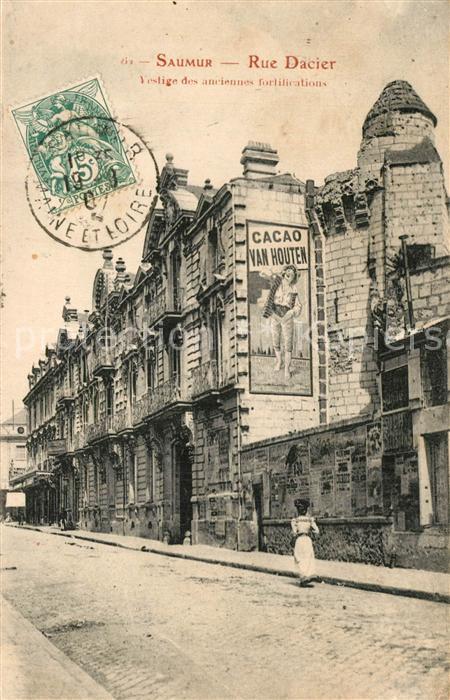 Saumur Rue Dacier Vestige des anciennes fortifications Saumur