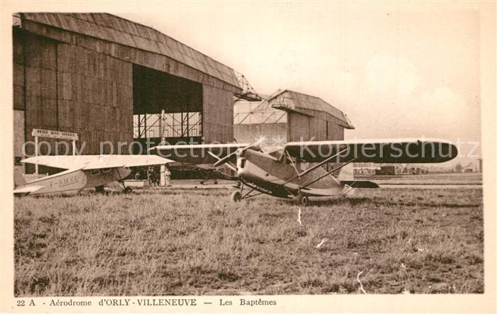 Orly Aerodrome d'Orly Villeneuve Les Baptemes Orly
