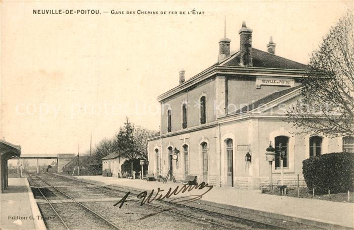 Neuville de Poitou Gare des Chemins de Fer de l Etat Neuville de Poitou