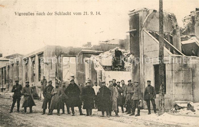 Vigneulles les Hattonchatel nach der Schlacht vom 21.04.1914 Vigneulles les Hattonchatel