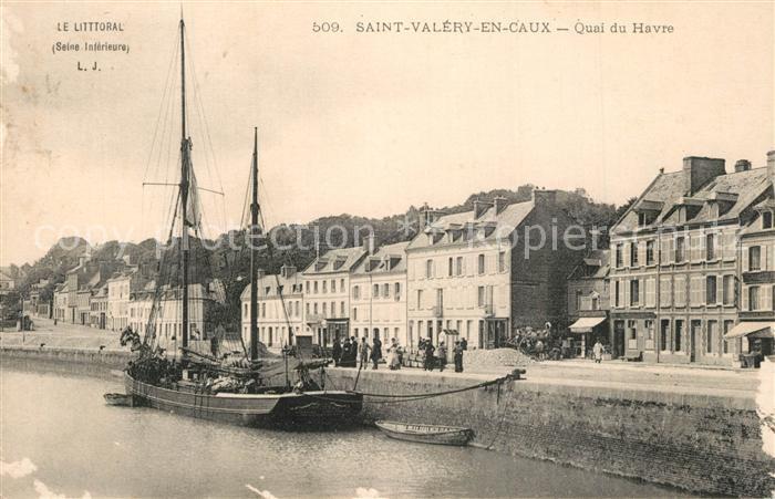 Saint Valery en Caux Quai du Havre Bateau Saint Valery en Caux