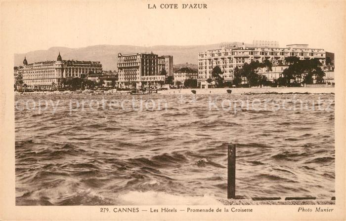 Cannes_Alpes Maritimes Promenades de la Croisette les Hotels Cannes Alpes Maritimes