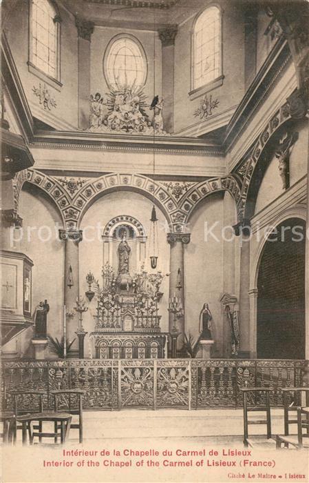 Lisieux Interieur de la Chapelle du Carmel Lisieux