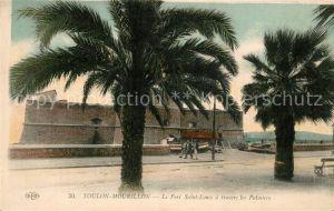 Mourillon Fort Saint Louis a travers les Palmiers Mourillon