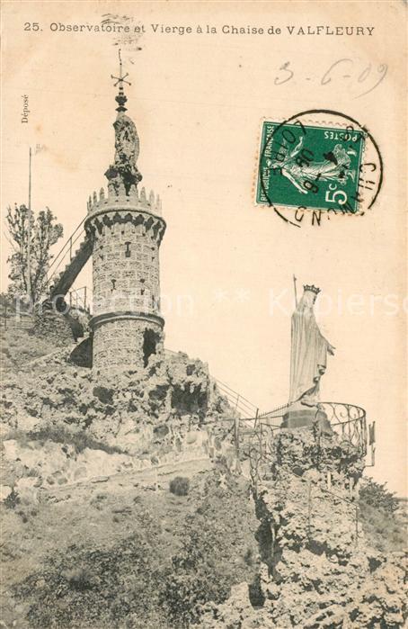 Valfleury Observatoire et Vierge a la Chaise de Valfeury Valfleury