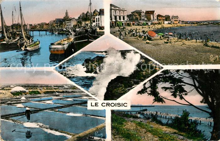Le_Croisic Port Plage de Port Lin Rochers Marais salants Jetee Le_Croisic