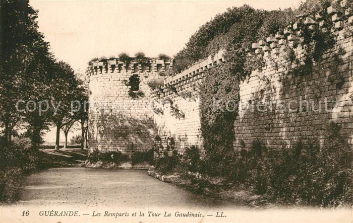 Guerande Les remparts et Tour La Gaudinais Guerande