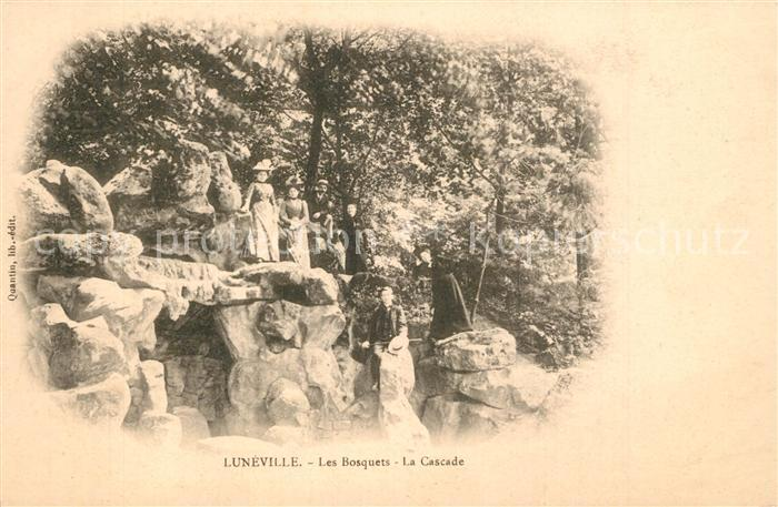 Luneville Les Bosquets la cascade Luneville