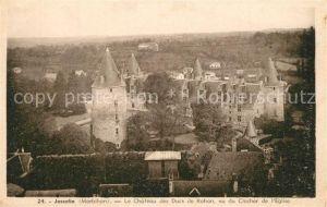 Josselin Chateau des Ducs de Rohan vu du Clocher de l Eglise Josselin