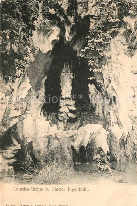 Ingenbohl Lourdes Grotte beim Kloster Ingenbohl