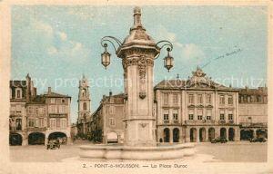 Pont a Mousson Place Duroc Fontaine Hotel Eglise Pont a Mousson