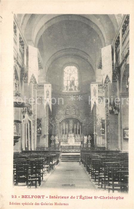 Belfort_Alsace Interieur de l'Eglise St Christophe Belfort Alsace