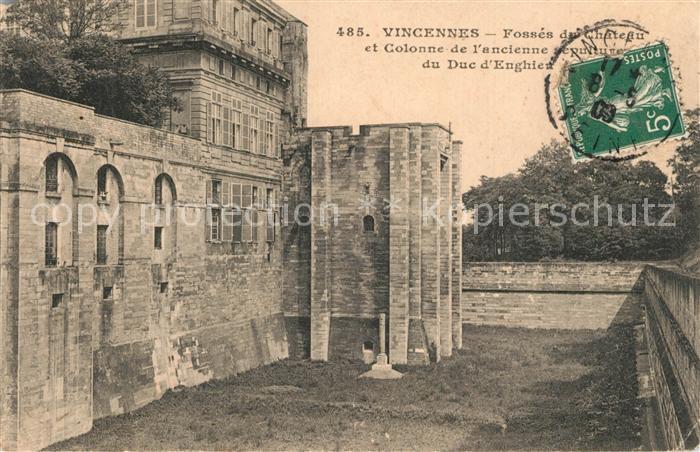 Vincennes Fosses du Chateau et Colonne de l'ancienne sculpture du Duc d Enghien Vincennes