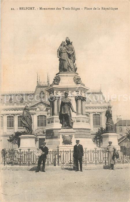 Belfort_Alsace Monument des Trois Sieges Place de la Republique Belfort Alsace