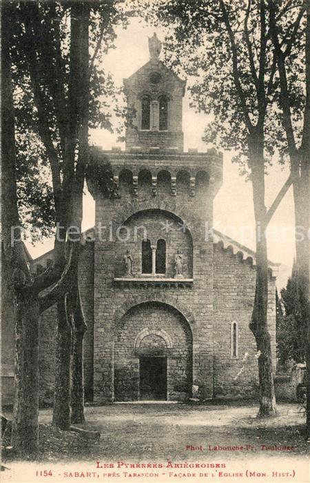 Tarascon sur Ariege Sabart pres Tarascon Facade de l Eglise Tarascon sur Ariege