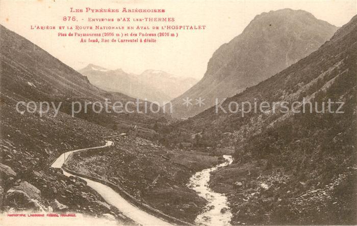 Ax les Thermes Ariege et la Route Nationale en Aval de l Hospitalet Ax les Thermes
