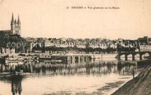 Angers Vue generale sur la Maine Angers
